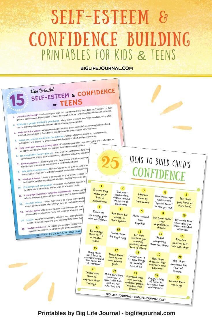 Self Esteem Confidence Kit Pdf Ages 5 11 Self Esteem Building Activities Self Esteem Worksheets Mindfulness For Kids