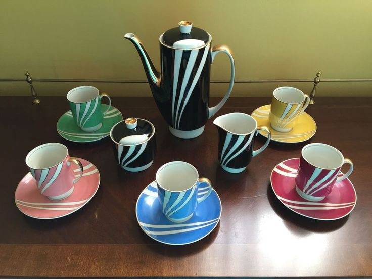 Vintage Porcelain Tea Service - Made in Poland by Cmielow (1960's) #Cmielow