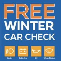 The winter is coming and the weather is getting really cold, so please do get your car checked with the free winter car check by Halfords.