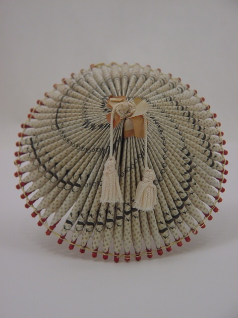 "Japanese Internment Camp Art | Origami Umbrella ""Wagasa"" made of Cigarette Pack Wrappers"