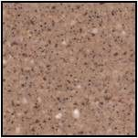 maia Solid Surface C End Worktop Latte 3600x650x42mm