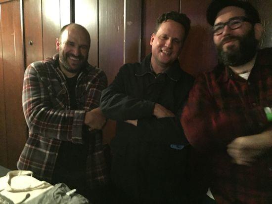 David Bazan , Mark Kozelek and Owen Ashworth at Swedish American Hall