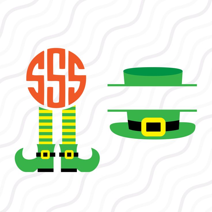 A personal favourite from my Etsy shop https://www.etsy.com/sg-en/listing/482351984/leprechaun-leg-and-hatsvg-patricks-day