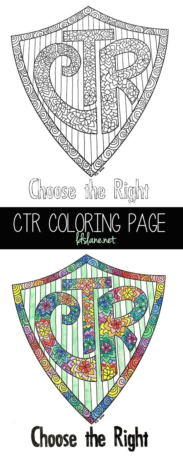 ctr coloring page lds lane