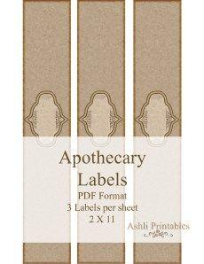 Apocathery Soap Labels Horizontally