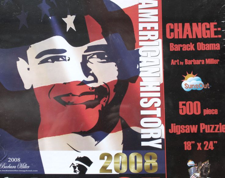 Collectable Barack Obama 2008 Presidential Nominee 500 Piece Jigsaw Puzzle