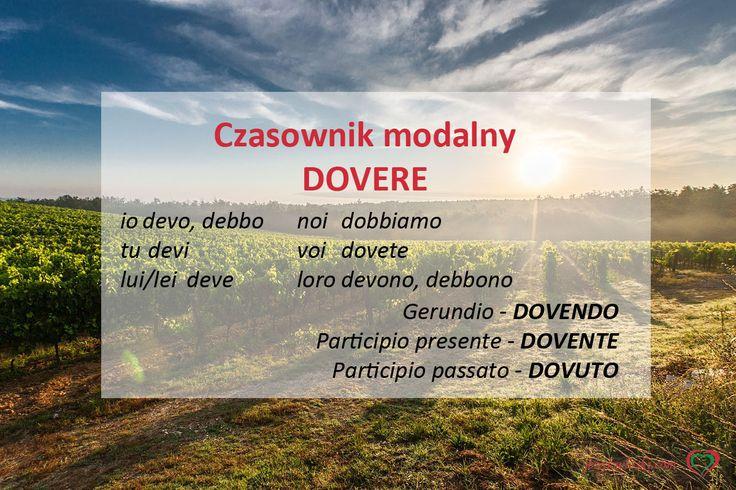 Czasownik modalny DOVERE http://jezykwloski.com/czasownik-modalny-dovere/