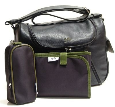 Large, satchel style baby bag, with zip around top so that you can access and see all!  Soft, PU leather, with wipe clean lining, ideal for everyday use and for both mum and dad!  Features:  Double zip around top flap so that you can see and access everything easily  Adjustable shoulder strap Unique built in pocket for ease of access to your wipes Quality, zipped insulated bottle traveller Soft, padded, change mat Two end pockets and two front zipped pockets