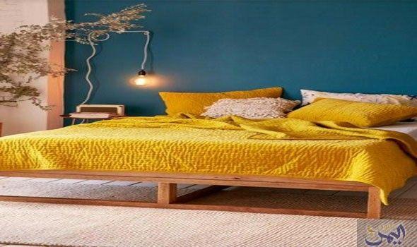 اللون الأصفر لإضفاء الجاذبية المميزة في غرفة النوم العصرية Aesthetic Bedroom Home Decor Bedroom Bedroom Interior