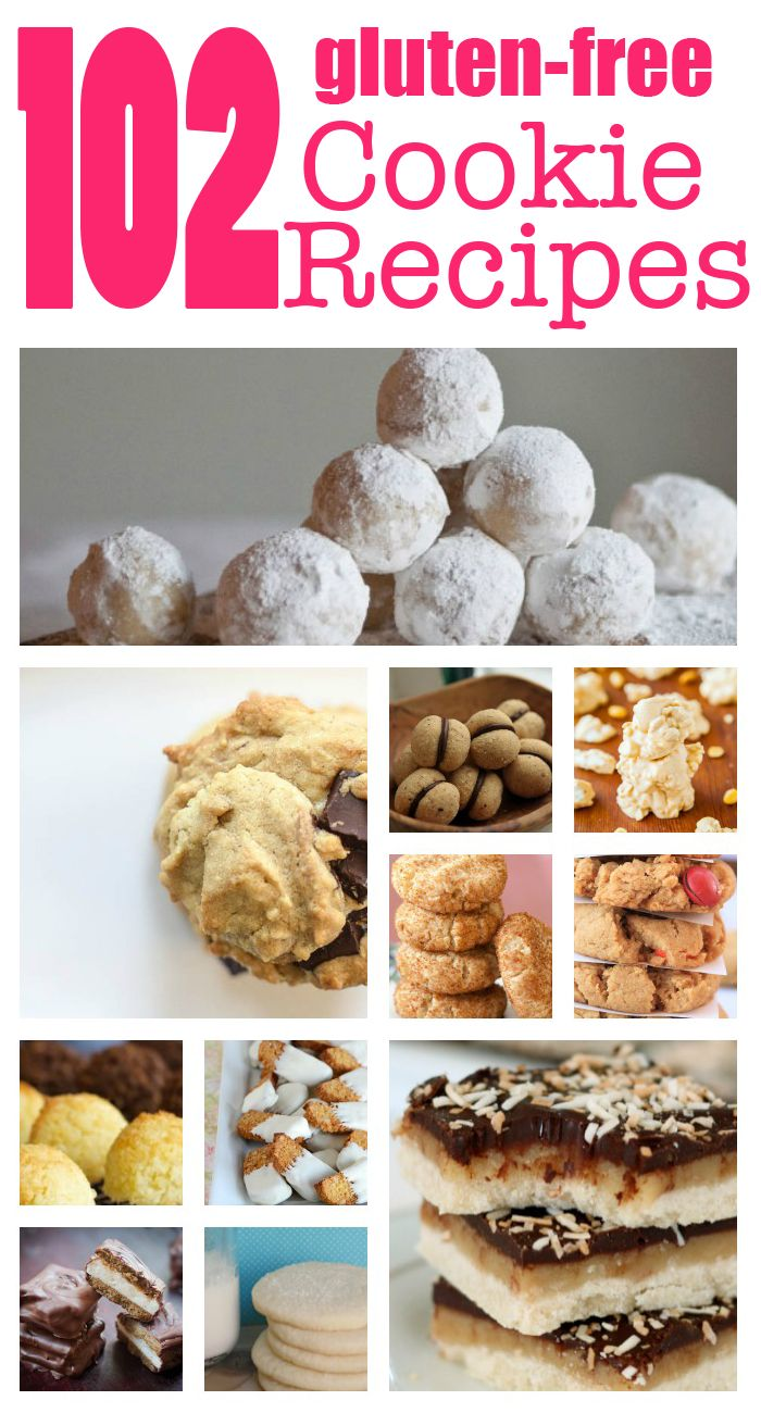 Get your cookie monster on with these 102 Gluten Free Cookie Recipes! Tons of ideas and recipes from chocolate chip to peanut butter madness!