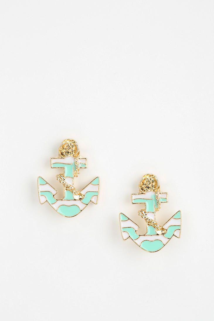Nautical Anchor Earring