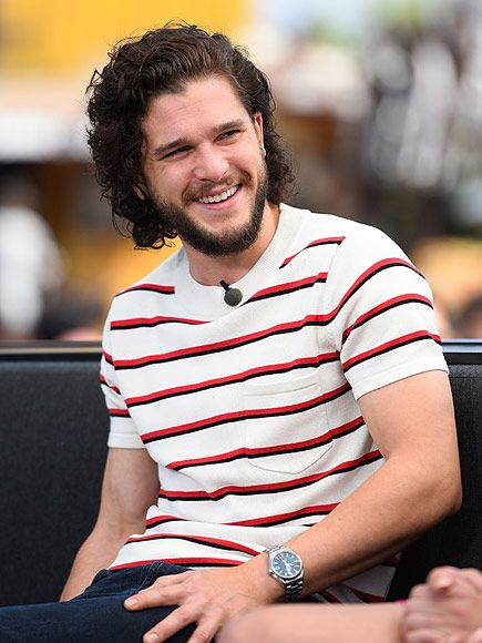Star Tracks: Friday, May 29, 2015 | STAR IN STRIPES | Even Jon Snow smiles sometimes! Game of Thrones actor Kit Harington enjoys a Thursday visit to Extra in Universal City, California.