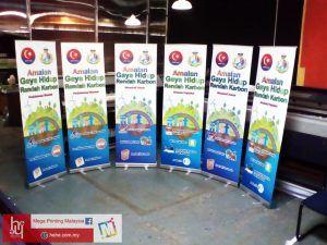 Roll Up Bunting Stand Amalan Gaya Hidup Rendah Karbon | hehe by Mega Printing & Multimedia
