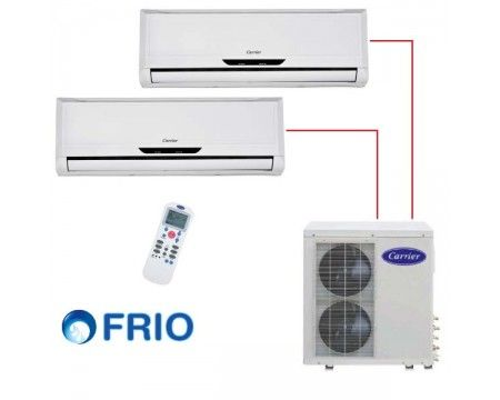 Ar Condicionado Carrier 18.000 BTU/h (2x 09.000) multi-split 220V