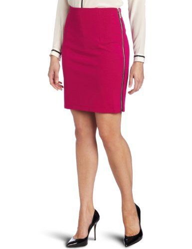 Vince Camuto Women's Side Zip Pencil Skirt, Hot Azalea, 8 Vince Camuto. $45.05. Side zip entry. 69% Rayon/26% Nylon/5% Spandex. Made in China. Machine Wash. Exposed zipper. Save 43% Off!