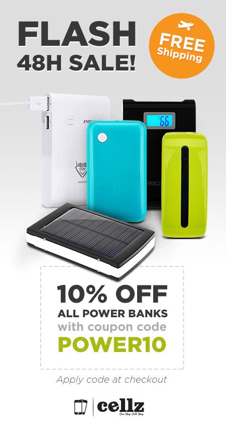 Power up with 10% OFF Discount on all cellphone chargers #cellz #chargers #iphone #samsung #powerup #accessories #sales #pin #pinterest #bestpin
