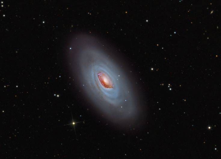 M64 The Black Eye Galaxy   Clicking on the picture will download  the highest resolution version available.