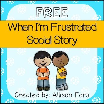 FREE A social story mini-book on how to handle frustration in color and black…