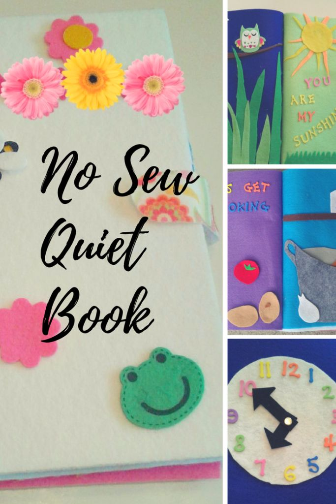 No Sew Quiet Book- Moms best friend when out and about #toddlers #pacifier