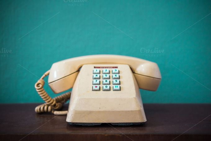 Old telephone by totojang1977 on @creativemarket