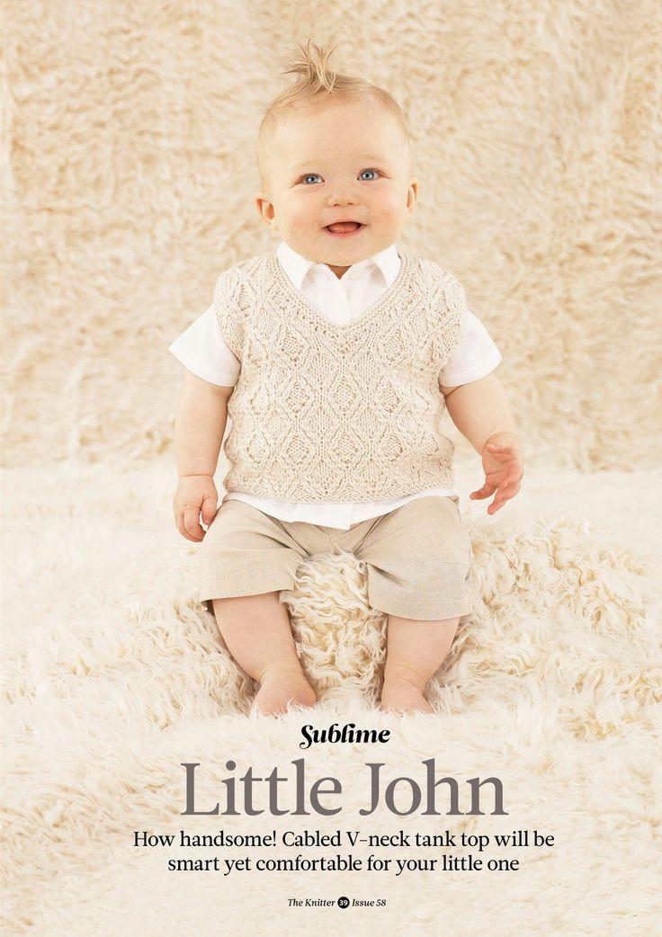 Вязание для малышей безрукавки Little John