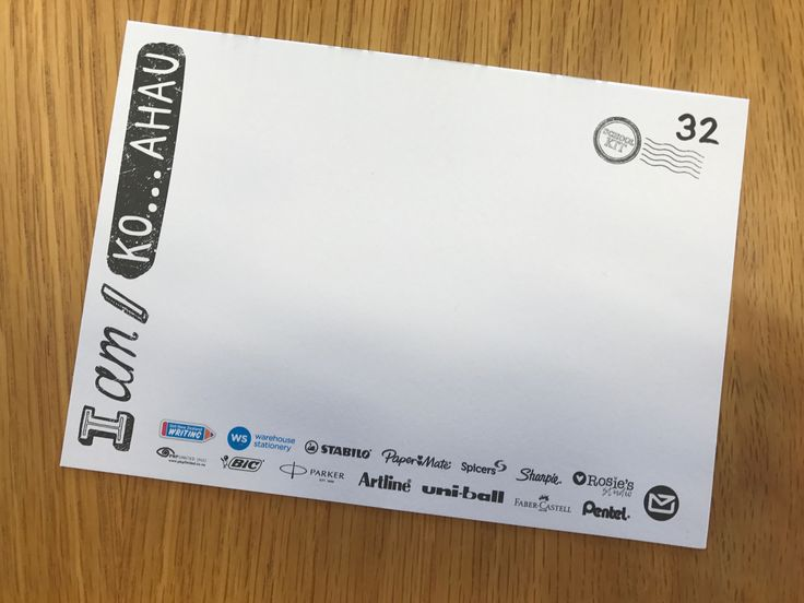 Each postcard is numbered (to help you do a final check before you package up your student writing for the courier)