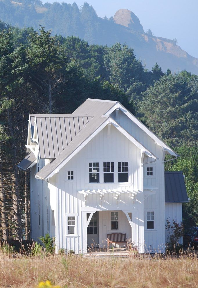 Image Result For Board And Batten Siding House White