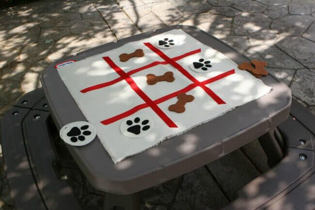 21 Paw Patrol Birthday Party Ideas - Paw Patrol Themed Tic Tac Toe Game