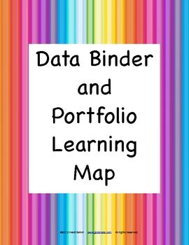 Freebie! Data Binder and Portfolio Common Core Standards Learning Map