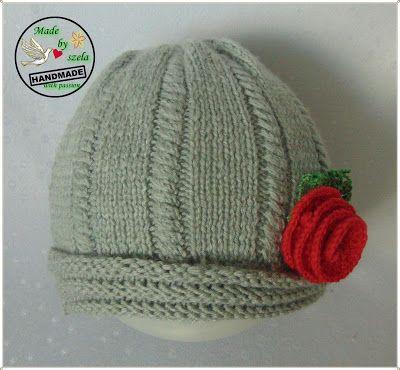 Made by Szela: Szaraczek - romantyczna czapka
