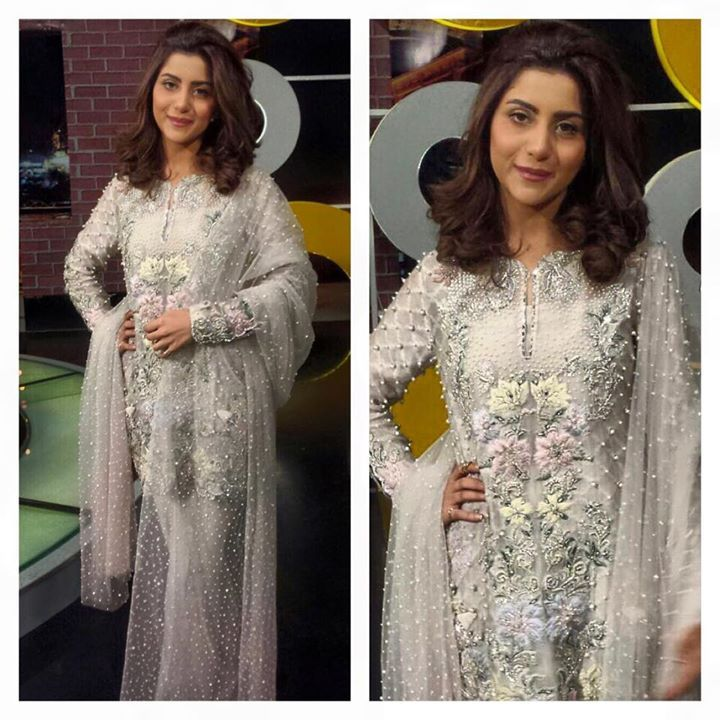 #SohaiAliAbro all jewelled up in our latest #LuxuryPret ensemble from the #Eden collection for her #premiere #WrongNo #celebrity #instafashion #Elan #love
