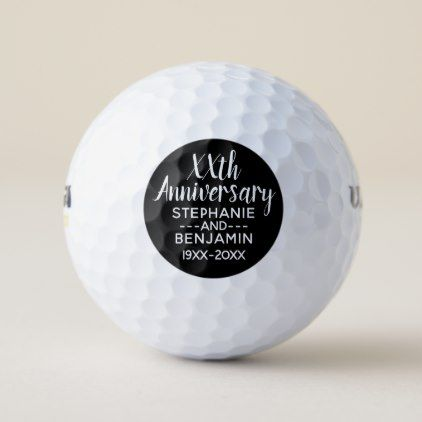 Any Wedding Anniversary Favor - Can Edit Black Golf Balls - formal speacial diy personalize style template