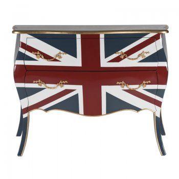 Design dressoir Lavis Steffen Union | modern vintage kastje met Engelse vlag | buikkastje | Union Jack