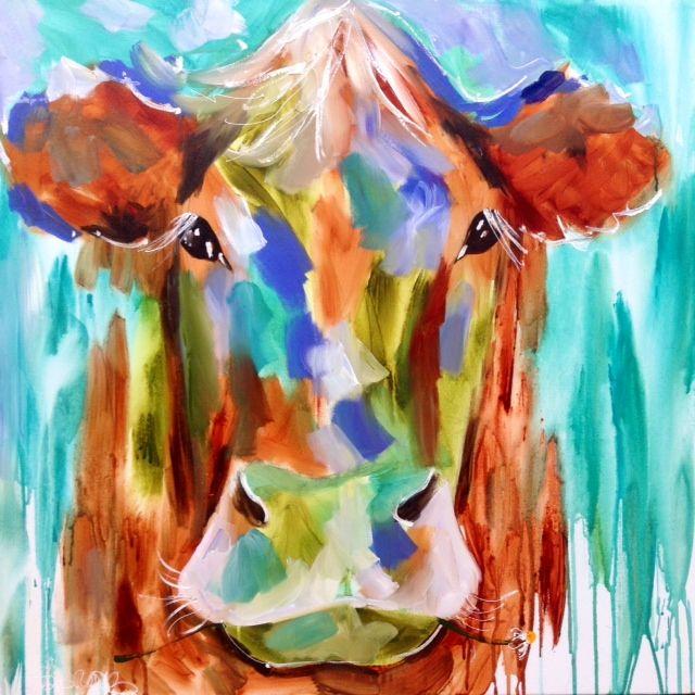 AJ Brooks paintings 5.  Misty pastures 90 x 90