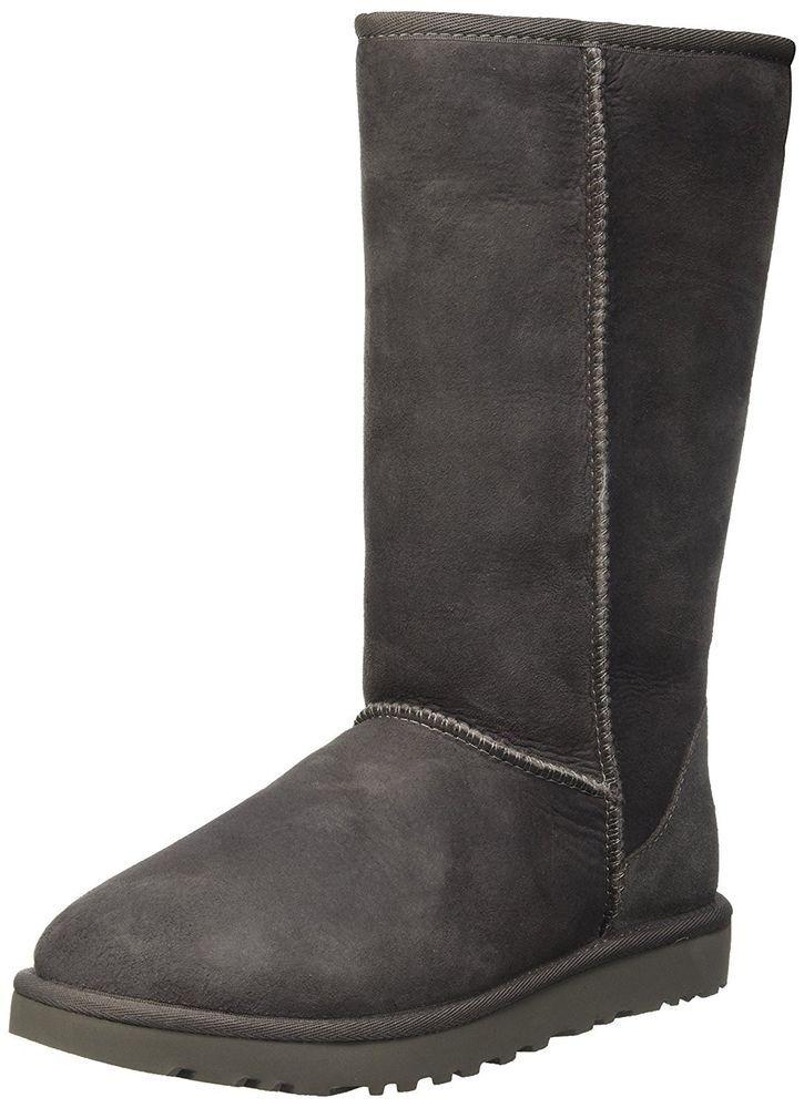 492441fa5c3c80 UGG Women s Classic Tall II Winter Boot Grey Size 8.0 US   6 UK ...