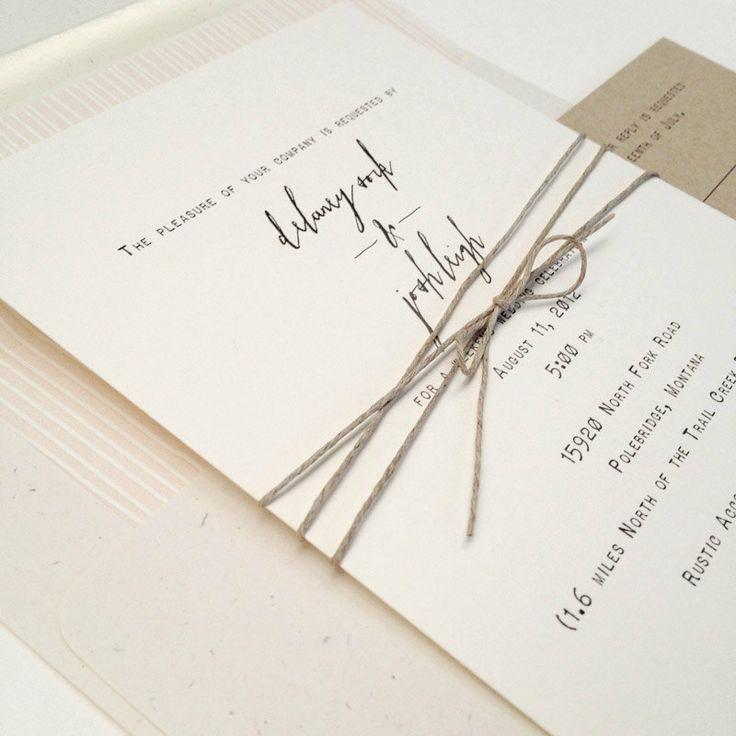 Simplicity wedding invitation. $6.00, via Etsy.