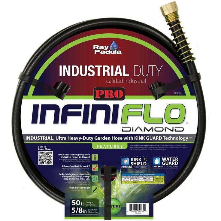 InfiniFlo Diamond PRO Series 5/8 in. Dia x 50 ft. Industrial Garden Hose
