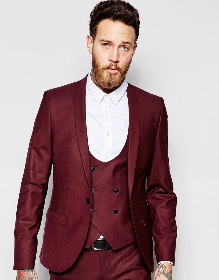 Noose Monkey Suit Jacket With Stretch And Shawl Lapel In Super Skinny Fit