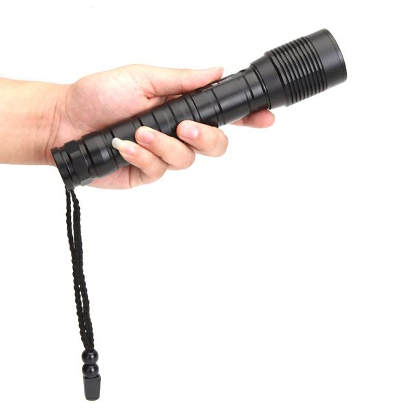 Meco XM-L T6 3600lm Zoom LED Torcia Elettrica 2x18650