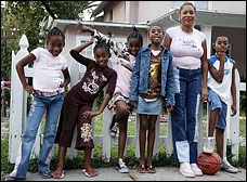 The Thompson sextuplets attracted a stream of publicity and gifts when they were born. Nine years later, their now-single mother is struggling to raise them.