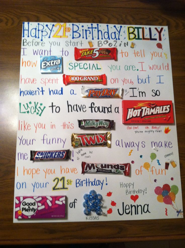 Ideas Birthday Gift Boyfriends Candies Cards
