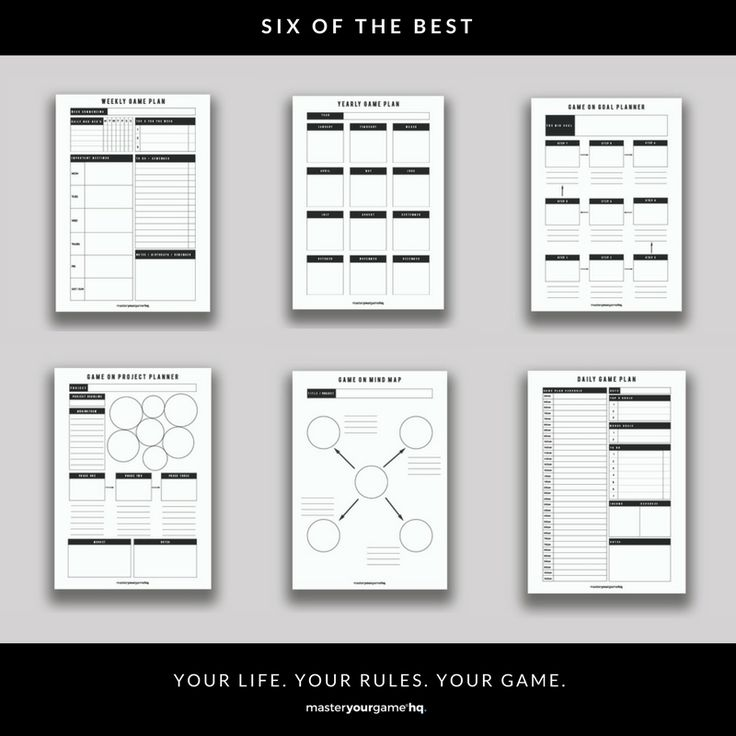 Six of the bestgame planning printable and fillable instant downloads!  Instant download, modern design, re-use over and over again, Black and white + ink friendly  A4 and letter versions (8.5 x 11 in) A5 + half letter versions (5.5 x 8.5 in)