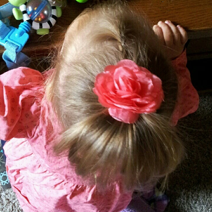 Toddler hair... I already do this but maybe I could do it with a messy bun