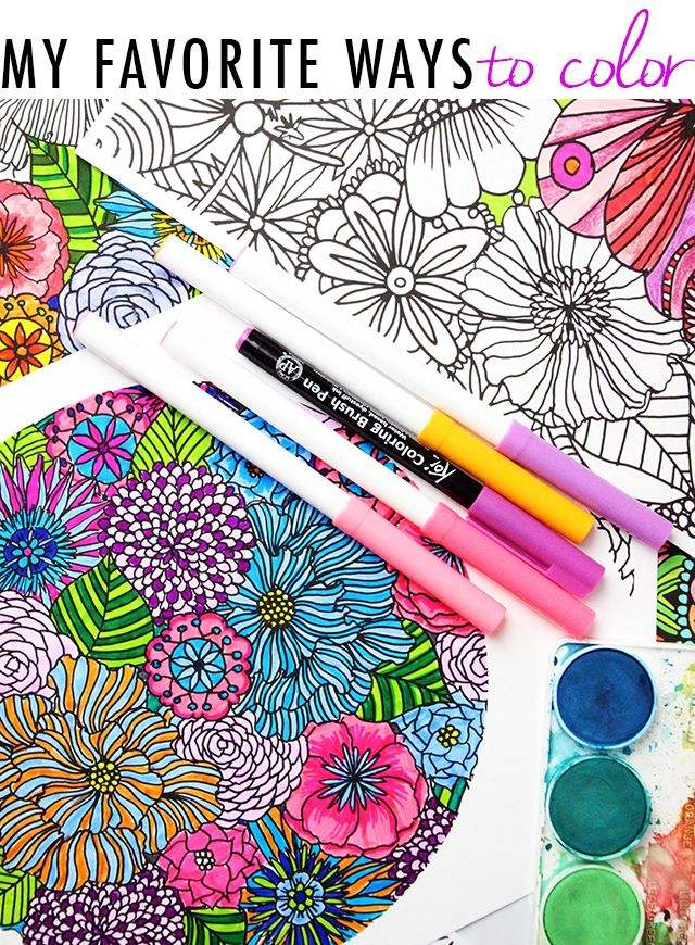 my favorite ways to color and a free coloring download alisaburke - Best Colored Pencils For Coloring Books