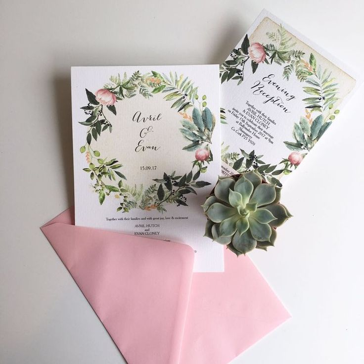 how to word evening wedding reception invitations%0A Flora Wreath Evening Reception Invitation