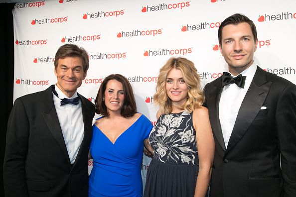 Dr Mehmet Oz Lisa Oz Daphne Oz and John Jovanovic attend the 9th Annual HealthCorps' Gala at Cipriani Wall Street on April 29 2015 in New York City