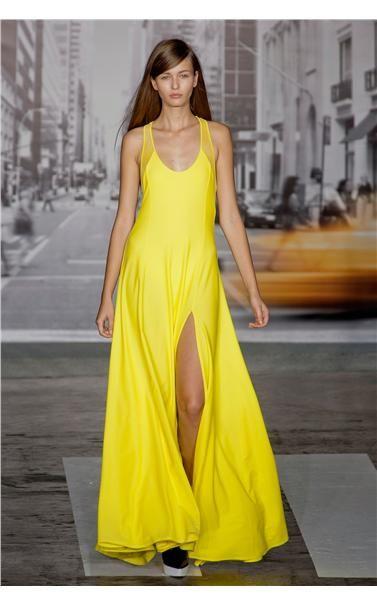 yellow DKNY