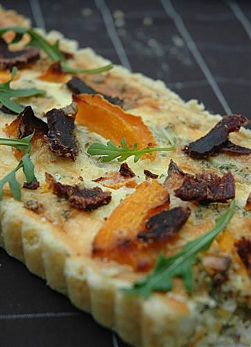 Biltong and Butternut Quiche [ NYBiltong.com ] #biltong #recipe #flavor