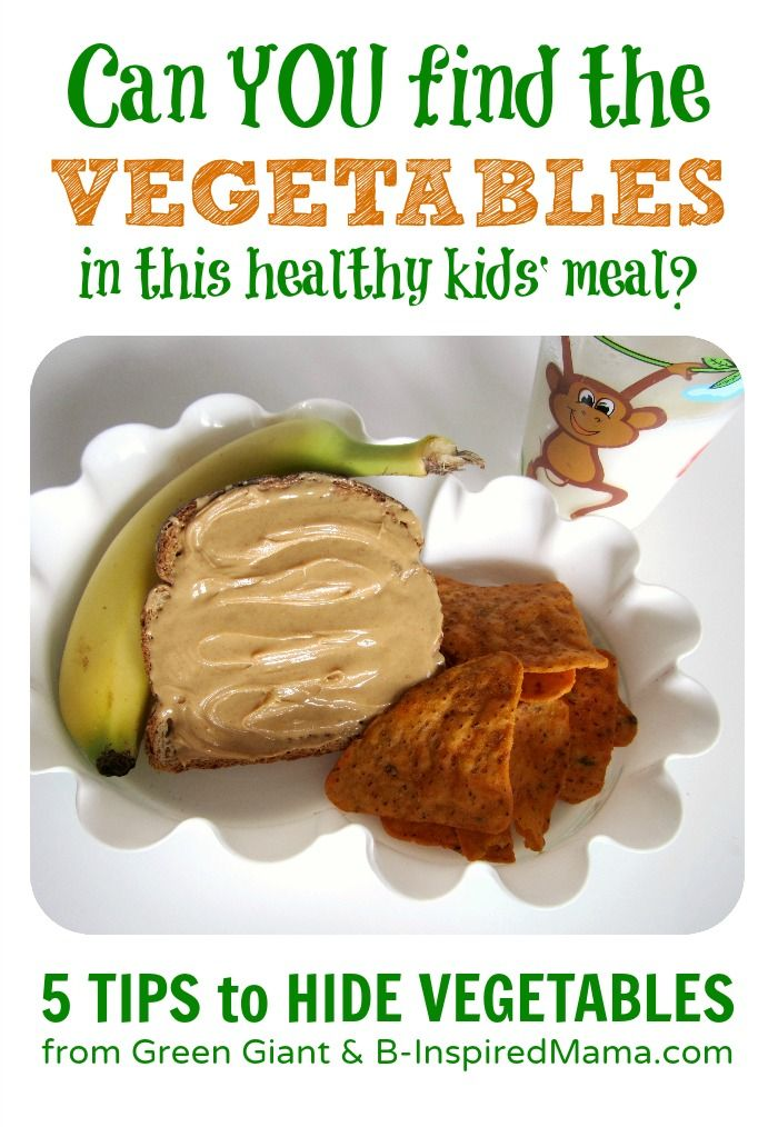 Can you find the hidden vegetables in this healthy kids meal? Get simple tips for hiding those veggies from your picky eater kids at B-InspiredMama.com.