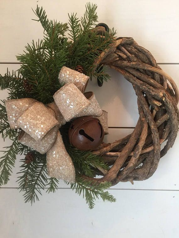 Rustic Christmas wreath farmhouse Christmas decor Christmas
